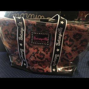 Betseyville bag. Clear outer & pattern interior
